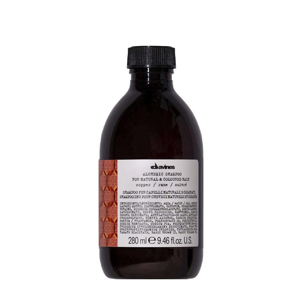 Davines Alchemic Shampoo Copper 280ml - champú para cabello cobrizo