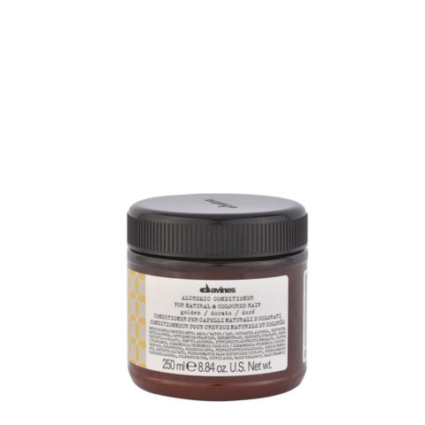 Davines Alchemic Conditioner Golden 250ml - Acondicionador coloreado para cabello rubio dorado