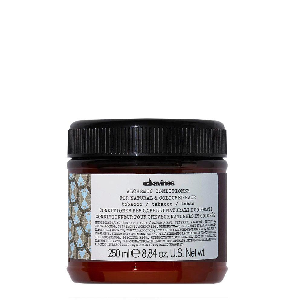 Davines Alchemic Conditioner Tobacco 250ml - Acondicionador coloreado para cabello marrón