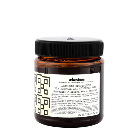 Davines Alchemic Conditioner Chocolate 250ml - Acondicionador coloreado para cabello negro