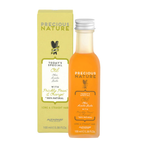 Alfaparf Precious nature Aceite sin enjuague con Aceite Higo Chumbo y extracto de Naranja para cabello largo/liso 100ml