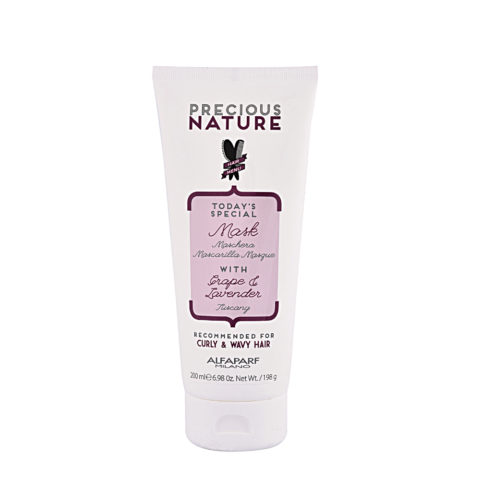 Alfaparf Precious nature Mask with Grape & lavender para Cabello Rizado & Ondulado 200ml