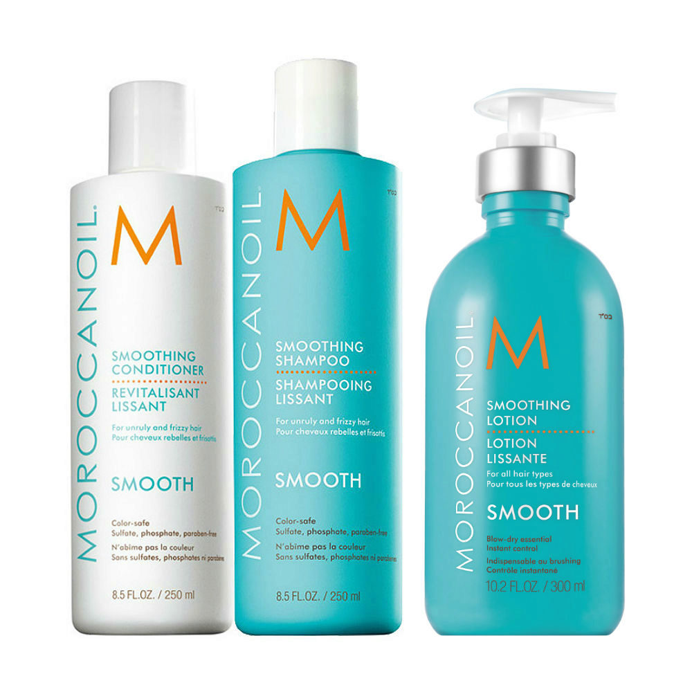 Moroccanoil Smoothing Kit Shampoo 250ml Conditioner 250ml Lotion 300ml