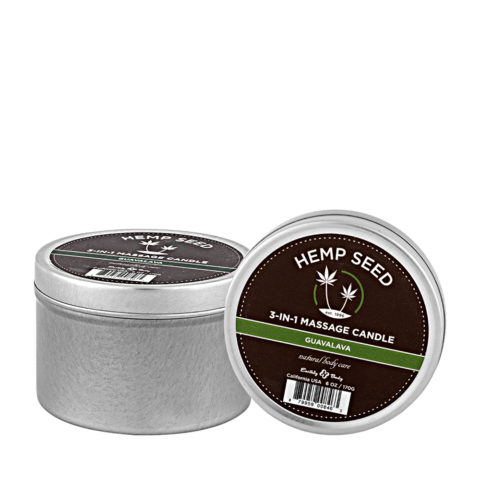 Marrakesh Hemp seed Guavalava 3 in 1 massage candle 177ml - Vela aromática 3 en 1 de masaje