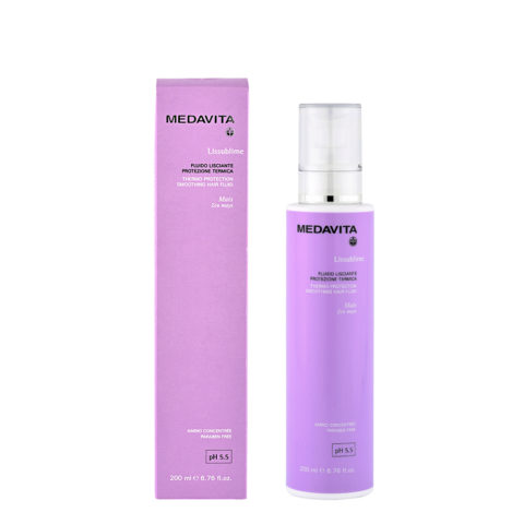 Medavita Lenghts Lissublime Thermo protection smoothing hair fluid pH 5.5  200ml Fluido alisador protección térmica