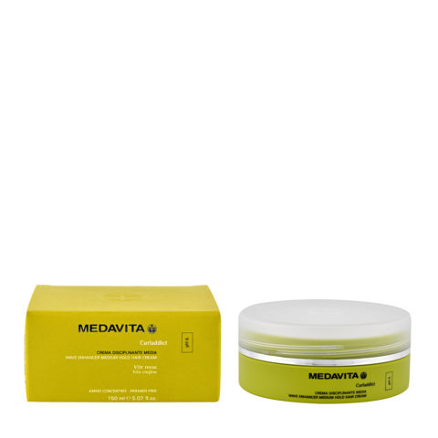 Medavita Lenghts Curladdict Wave enhancer medium hold hair cream pH 6  150ml - mascarilla elastizante