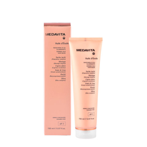 Medavita Lunghezze Huile d'etoile Shining oils hair mask pH 3  150ml - mascarilla iluminadora