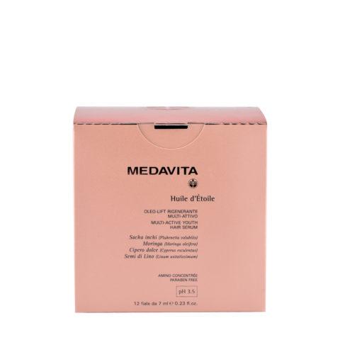 Medavita Lunghezze Huile d'etoile Multi-active youth hair serum pH 3.5  12x7ml