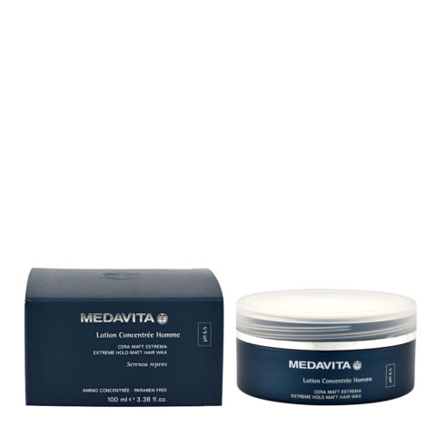 Medavita Cute Lotion concentree homme Extreme hold matt hair wax pH 6.5  100ml Cera Mate Extrema