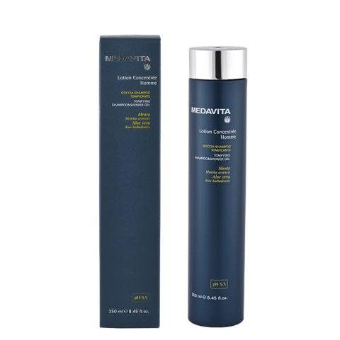 Medavita Scalp Lotion concentree homme shave Tonifying shampoo & shower gel pH 5.5  250ml Gel de ducha-champú tonificant
