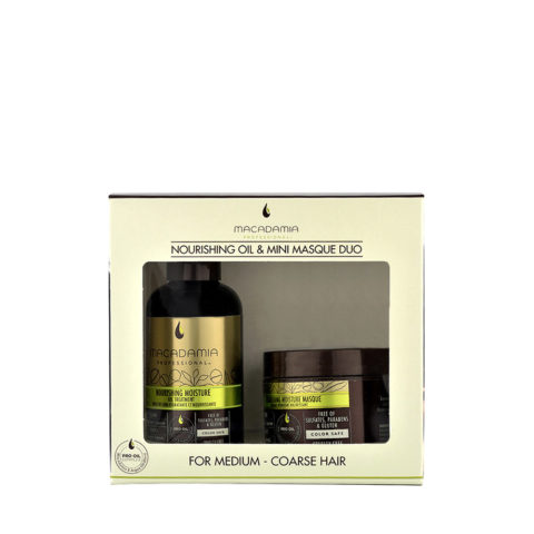 Macadamia Nourishing moisture Duo: Oil treatment 125ml Mascarilla 60ml