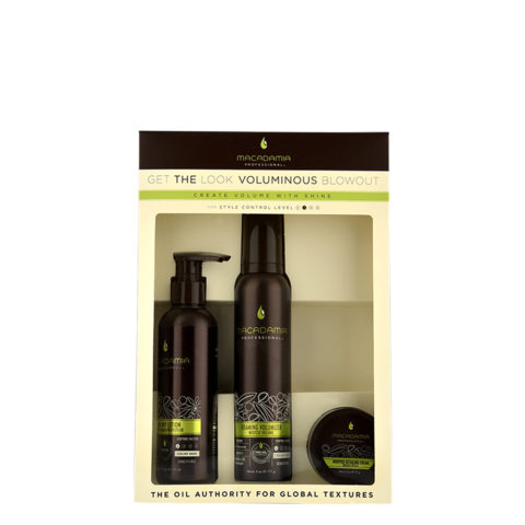 Macadamia Style kit Get the look Voluminous blowout - kit 3 unidades