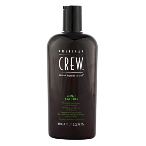 American crew Tea Tree 3 in 1 Shampoo Conditioner and Body Wash 450ml - champù, acondicionador y gel de ducha