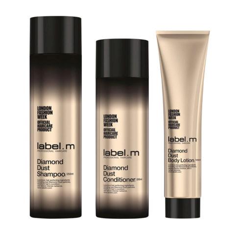 Label.M Diamond dust Kit Shampoo 250ml  Conditioner 200ml  Body Lotion 120ml