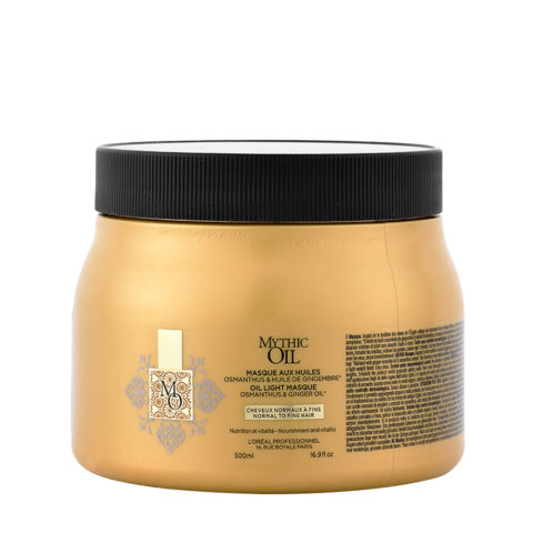 L'Oreal Mythic oil Light masque Normal para cabello fino 500ml