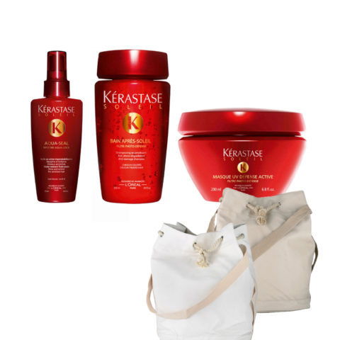 Kerastase Soleil Kit  Aqua Seal 125ml  Bain Photo-defense 250ml  Masque 200ml  Sun bag gratis