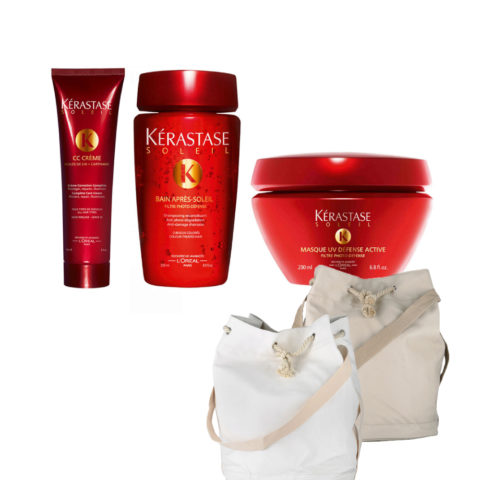 Kerastase Soleil Kit  CC Crème 150ml  Bain Photo-defense 250ml  Masque 200ml  Sun bag gratis