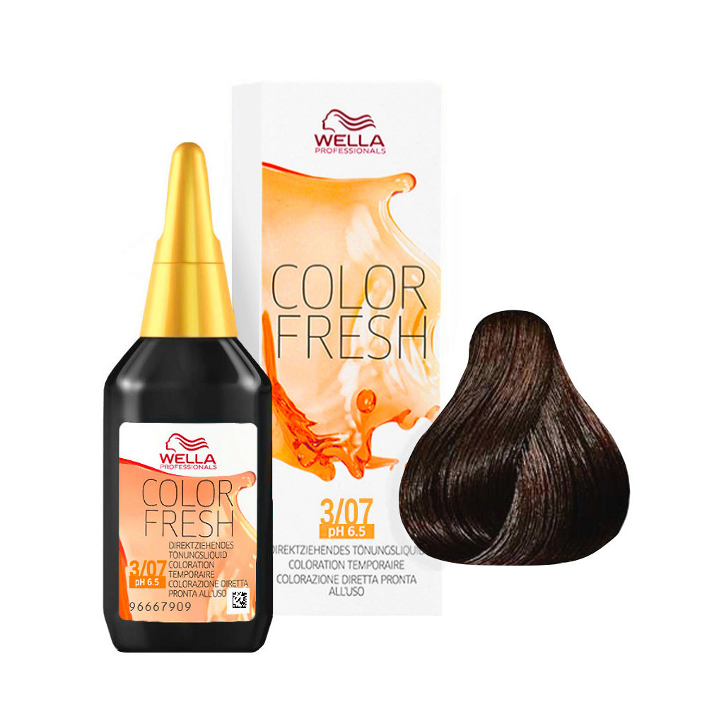 3/07 Castaño oscuro natural marron Wella Color fresh 75ml