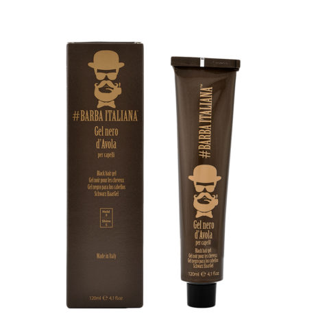 Barba Italiana Gel per capelli Nero d'Avola 120ml - Gel Negro para el cabello
