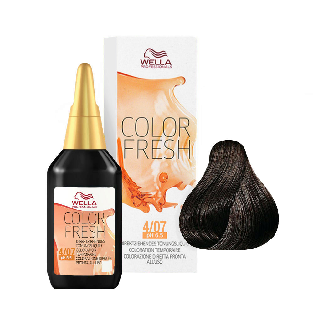 4/07 Castaño medio natural marron Wella Color fresh 75ml