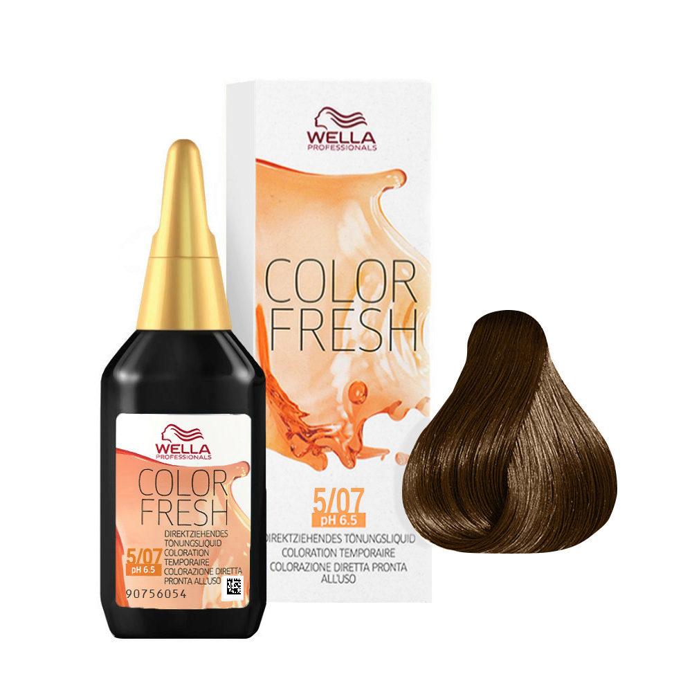 5/07 Castaño claro natural marron Wella Color fresh 75ml