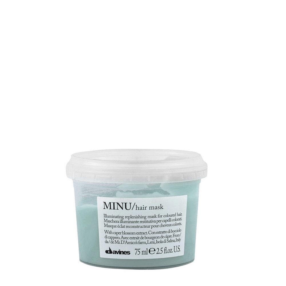Davines Essential hair care Minu Hair mask 75ml - Mascarilla iluminadora
