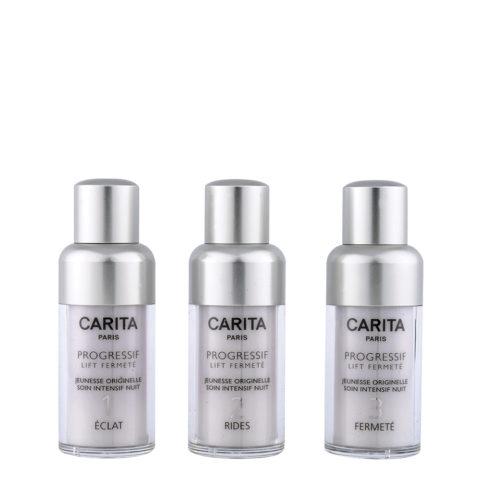 Carita Skincare Progressif Lift Fermetè Jeunesse Intensif Nuit 3X15ml - programa revitalizador para pieles fatigadas
