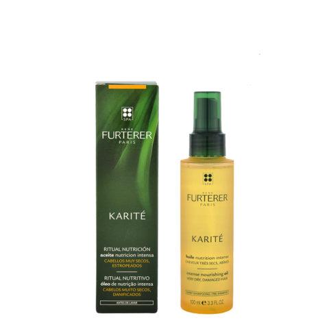 René Furterer Karité Intense Nourishing Oil 100ml - aceite antes del champú