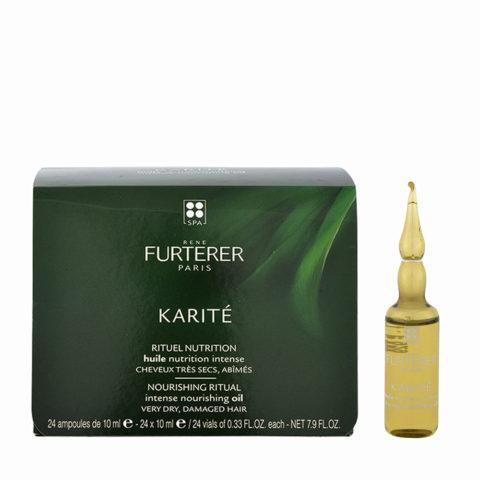 René Furterer Karité Intense Nourishing Oil 24x10ml - aceite antes del champú