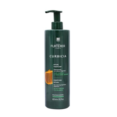 René Furterer Curbicia Normalizing Lightness Shampoo 600ml - champú normalizante cuero cabelludo graso