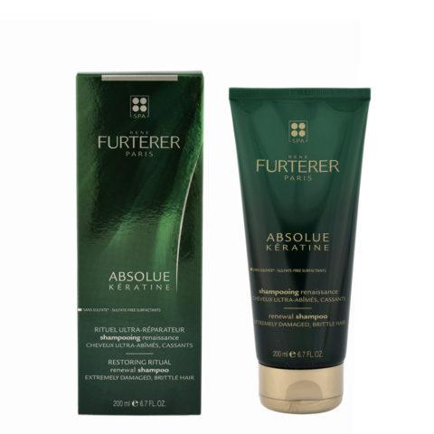 René Furterer Absolue Kératine Shampoo - Champú de Regeneración 200ml cabello muy dañado
