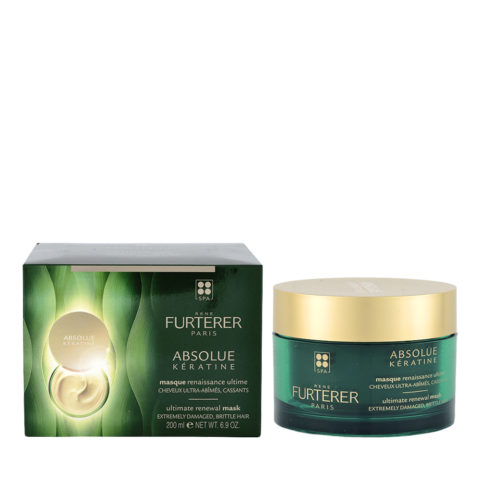 René Furterer Absolue Kératine Ultimate Renewal Mask 200ml - Mascarilla De Regeneración Cabello Muy Dañado