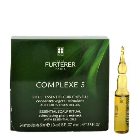 René Furterer Complexe 5 Stimulating Concentrate 24x5ml - Regenerador de concentrado vegetal