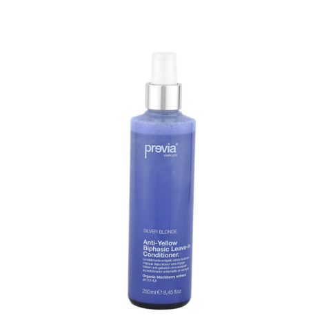 Previa Silver Blonde Anti-Yellow Biphasic Leave in Conditioner 250ml - acondicionador antiamarillo sin enjuague