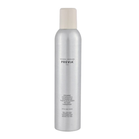Previa Finish Organic Hydrolized Verbascum Thapsus Flower No Gas Hairspray 350ml - laca sin gas
