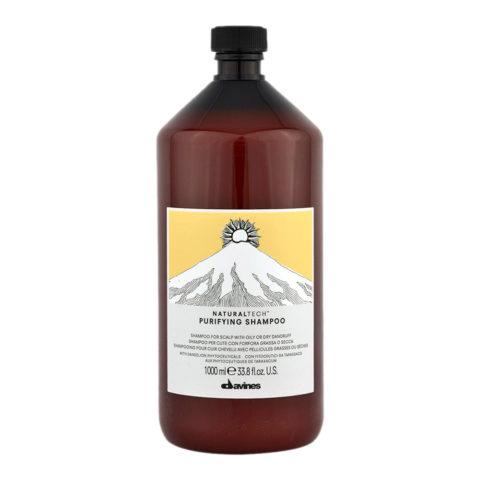 Davines Naturaltech Purifying Shampoo 1000ml - Champú purificante anticaspa