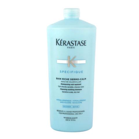 Kerastase Specifique Bain Riche dermo-calm 1000ml - Champù calmante y purificante