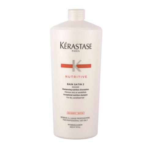 Kerastase Nutritive Bain satin 2, 1000ml - Champú para cabello seco y sensibilizado