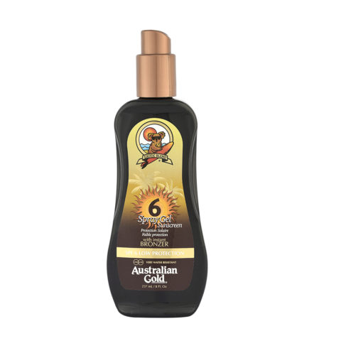 Australian Gold Protector Solar SPF6 Spray Gel con Bronces 237ml
