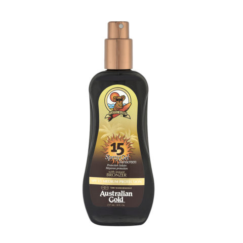 Australian Gold Protector Solar SPF15 Spray Gel con Bronces 237ml