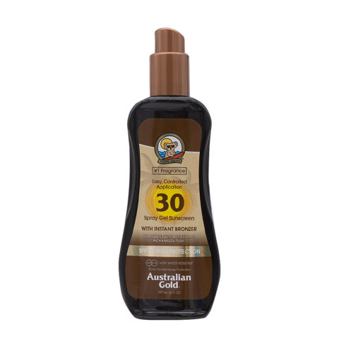 Australian Gold Protector Solar SPF30 Spray Gel con Bronces 237ml