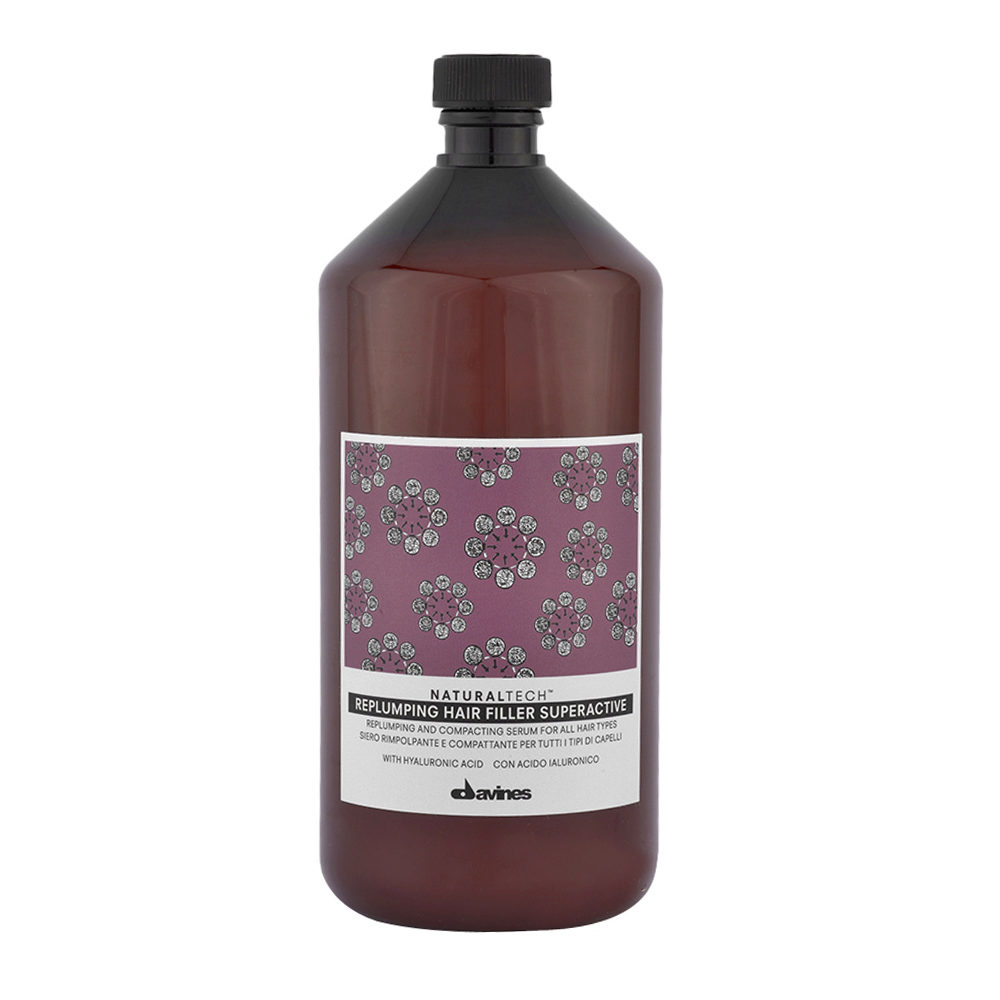 Davines Naturaltech Replumping Hair filler Superactive 1000ml  Tratamiento de engrosamento