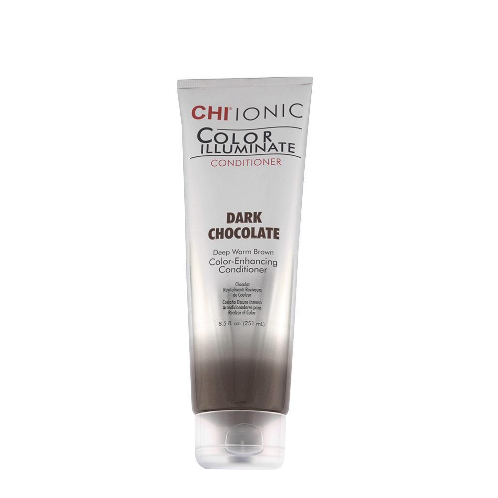 CHI Ionic Color Illuminate Conditioner Dark Chocolate 251ml - castaño oscuro intenso acondicionador