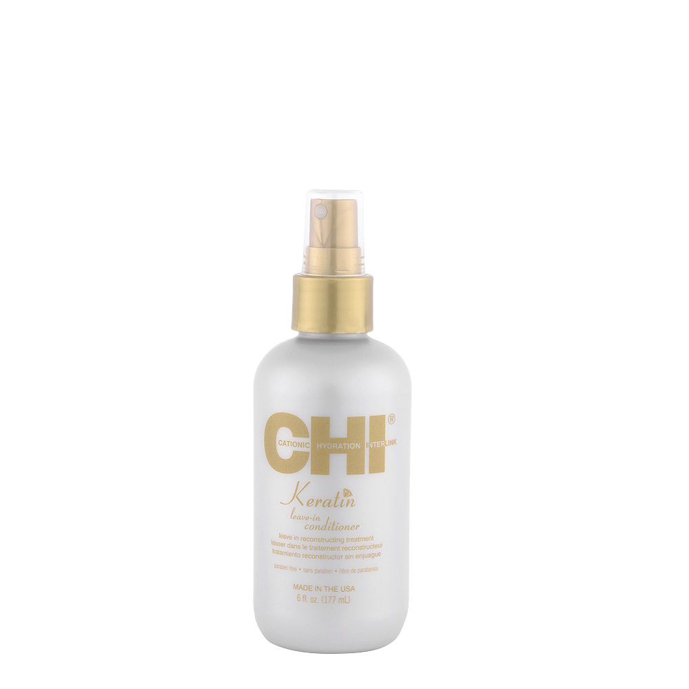 CHI Keratin Leave In Conditioner 177ml - Tratamiento Reconstructor sin enjuague
