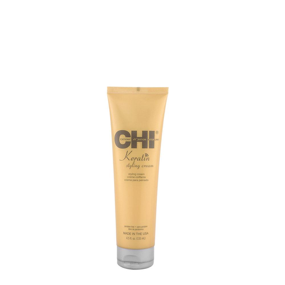 CHI Keratin Styling Cream 133ml - crema acondicionadora ligera para el peinado