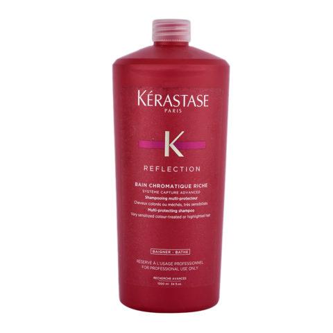 Kerastase New Réflection Bain Chromatique Riche 1000ml - champú cabello coloreado, muy sensibilizado y grueso
