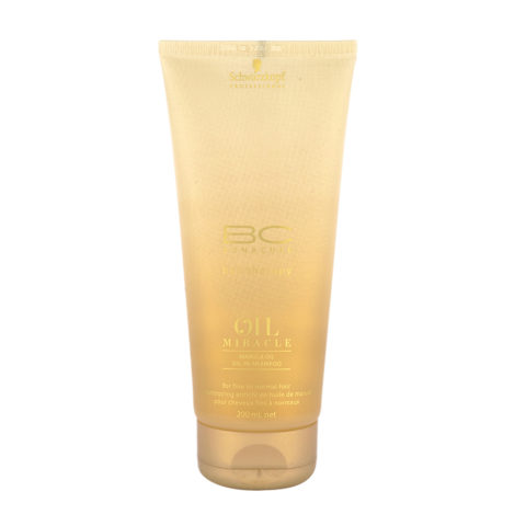 Schwarzkopf Professional BC NEW Oil Miracle Marula Oil shampoo Fine to normal hair 200ml - Champú cabello fino