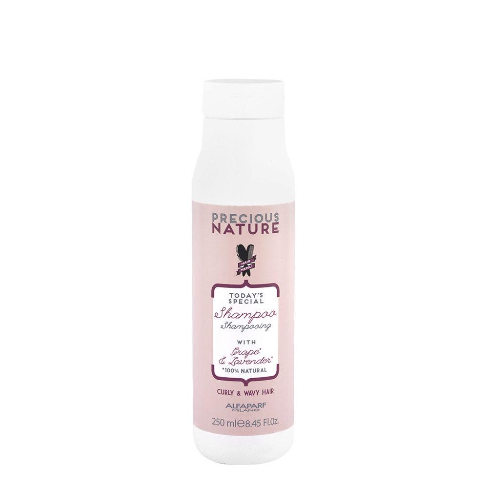 Alfaparf Precious Nature Shampoo With Grape & Lavender For Curly & Wavy Hair 250ml - Cabello Rizado Y Ondulado