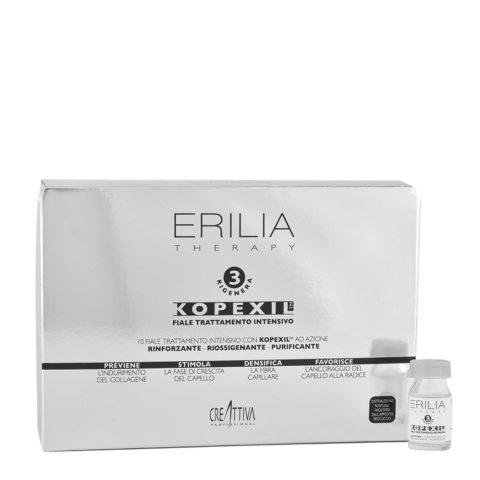 Erilia Kopexil Tratamiento Anticaida fortificante para cabello débil 10x8ml