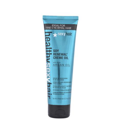 Healthy Sexy Hair Soy Renewal Creme Oil Nourishing Blow Dry Creme 125ml